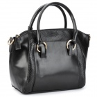 Crocodile Pattern Fashion Lady's PU Leather Hand / Shoulder / Aslant Bag - Black