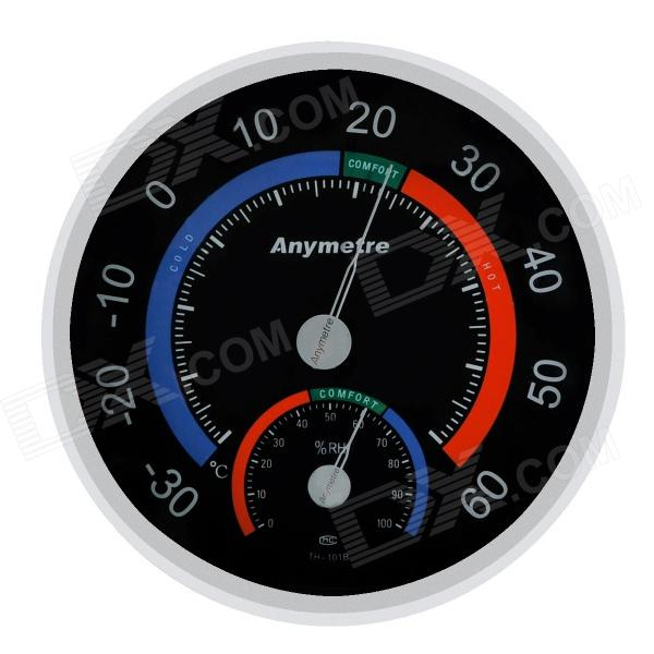 Anymeter TH101B Weather Thermometer Hygrometer - Black