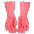 Instant Vegetable Potato Peeler Soft Rubber Gloves - Pink (Pair)