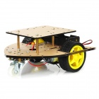 DIY Arrow Shape 2WD Smart Car Chassis Module - Transparent Brown