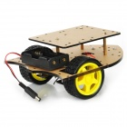 DIY forma de flecha 2WD Smart Car Chassis Module - Transparent Brown