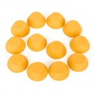 Round Shaped Silicone DIY Mold Tray for Cake / Pudding - Fluorescent Yellow (12 PCS)