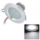 6W 500lm 6500K White 15-SMD 5630 LED Ceiling Light Lamp - Silver (85~265V)