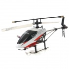 ZR-Z102 Rechargeable 4-CH 2.4GHz Radio Control Single Blade R/C Helicopter w/ Gyro - Black + White