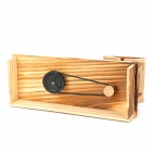 Woodcraft Countryside Style Music Box Design Pen Container