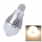 E27 4W 380lm 3200K IR Sensor Motion Activated Warm White 8-SMD 5630 LED Light Bulb (85~265V)