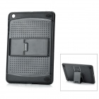 Protective TPU + PC Back Case Cover w/ Adjustable 3-Level Stand for Ipad MINI - Black