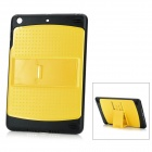 Protective TPU + PC Back Case Cover w/ Adjustable 3-Level Stand for Ipad MINI - Yellow + Black