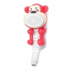 Cute Cartoon Monkey Style Handheld Shower Head w/ Suction Cup Mount Holder - Deep Pink + White