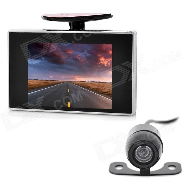 2-in-1 2.4GHz Wireless Camera + 3.5 LCD Car Vehicle Rearview Mirror Monitor Set - Black + Silver wireless pager system 433 92mhz wireless restaurant table buzzer with monitor and watch receiver 3 display 42 call button