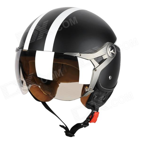 BEON a5 Motorcycle / Electric Vehicle / Outdoor Sports Racing Helmet - Black + White