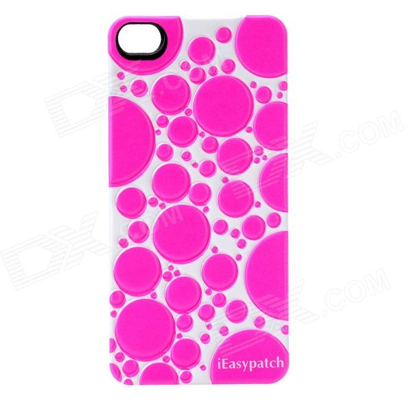 iEasypatch Soft Foam 3D Back Sticker for Iphone 4 / 4S - Deep Pink + White
