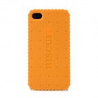 Newtons Cracker Style Plastic Back Case for Iphone 4 / 4S - Orange