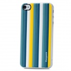 iEasypatch Soft Foam 3D Back Sticker for Iphone 4 / 4S - Blue + Yellow + White