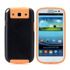 Newtons Protective Plastic Back Cover Case for Samsung i9300 - Black + Orange