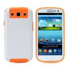 Newtons Protective Plastic Back Cover Case for Samsung i9300 - White + Orange