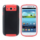 Newtons Protective Plastic Back Cover Case for Samsung i9300 - Black + Red