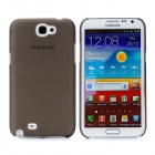 Newtons Matting Design Protective Plastic Back Cover Case for Samsung i7100 - Translucent Coffee