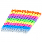 Stylish Brick Block Plastic Pencils Set - Multicolored (12 PCS)