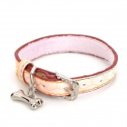 PU Adjustable Pet Dog Collar Leash - Light Pink (Size S)