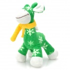 Cute Giraffe Style Short Plush Doll Toy - Green + White + Yellow