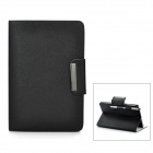 Protective PU Leather Cover PC Hard Back Case Stand for Ipad MINI - Black