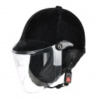 FR 001 Stylish Genuine Seasons Velvet Motorcycle Outdoor Sports Racing Riding Helmet - Black
