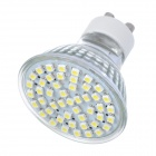 GU10 2.8W 300lm 7000K White 48-SMD 3528 LED Light Bulb - Silver (220V)