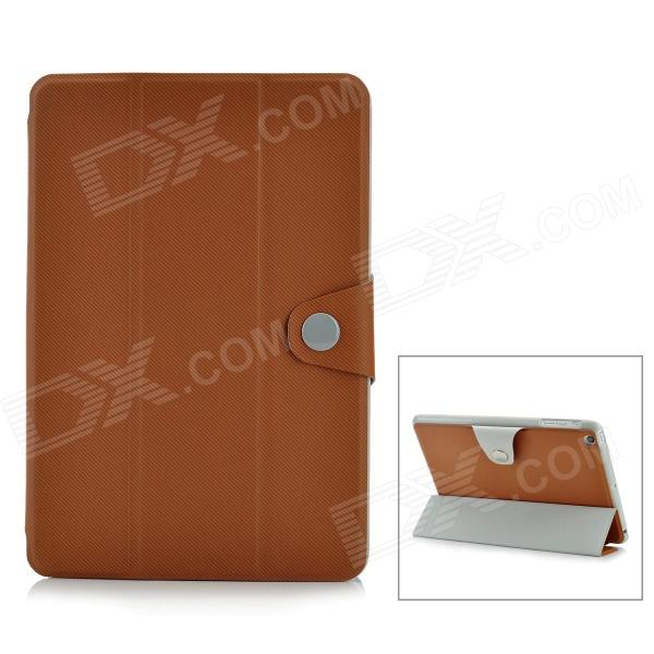 Stylish Oblique Grain Protective PU Leather Case for Ipad MINI - Brown