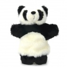 Cute Panda Plush Doll Finger Toy - White + Black
