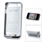 "iFans External ""1800mAh"" Battery Kunststoff rückseitige Cover Case für iPhone 4 / 4S - Silber"