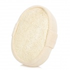 Natural Loofah Sponge Bath Shower Ball with Brush - White