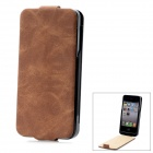 "iFans External ""1800mAh"" Battery PU + ABS Top Flip-Open Case for iPhone 4 / 4S - Matting Brown"