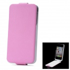 "iFans External ""1800mAh"" Battery PU + ABS Top Flip-Open Case for iPhone 4 / 4S - Pink"