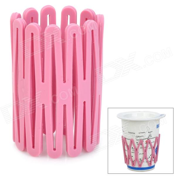 Multifunction Soft PS Heat Insulation Anti-Skid Cup Pad - Pink