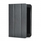 Lichee Pattern Protective PU Leather Case 3-Fold Stand for Ipad MINI - Black