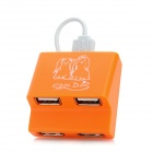 G-H410 High Speed ​​USB 2.0 4-Port Hub - Orange
