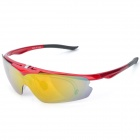 UV400 Protection Resin Lens Sunglasses w/ Protective case - Red