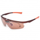 Fashion UV400 Protection Resin Lens Sunglasses w/ Protective case - Red