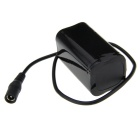Rechargeable 8.4V 4400mAh 18650 Battery Pack for Bike Light - Black