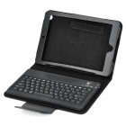 76-Key Bluetooth V3.0 Wireless Keyboard w/ Protective PU Leather Case Stand for Ipad MINI - Black