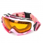 PANLEES F14 Skiing Windproof Anti-Fog Dual-Layer Goggles - Pink + Orange
