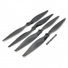 1340 13X4 Carbon Fiber Positive + Negative Propellers for Multi-Axis Aircraft - Black (2 Pairs)