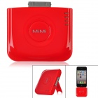 Portable 2000mAh Mobile External Battery Pack w/ Stand for iPhone 4 / 4S - Red