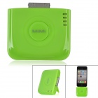 Portable 2000mAh Mobile External Battery Pack w/ Stand for iPhone 4 / 4S - Green