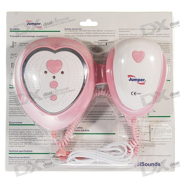 AngelSounds Baby/Fetal Heart Beat Monitor for Soon-To-Be Parents (4*AAA)