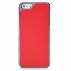 Ultra-Slim Protective Carbon Fiber PC Back Case for Iphone 5 - Red