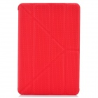 Stilvolle Protective PU Ledertasche für iPad Mini - Red