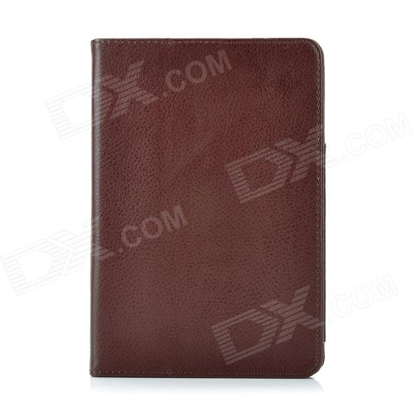 Protective PU Leather Case Stand for Ipad MINI - Brown