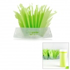 U-garden Mini Natural Evaporation Air Humidifier Plastic Vase Grass w/ Essential Oil - Green